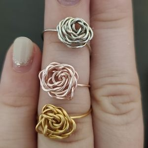 'In Bloom' wire wrapp ring